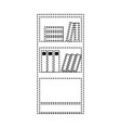 dotted shape education bookcase with books vector image vector image