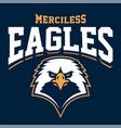 eagle mascot sport emblem vector image
