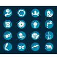 Eco icon set Environment vector image