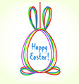 egg doodle background happy ester greeting card vector image vector image