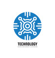 electronic computer chip - concept business logo vector image