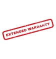 Extended Warranty Rubber Stamp vector image vector image