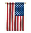 flag united states america on gold vector image