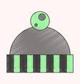 flat shading style icon hat vector image