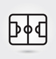 football field sports icon sports field icon vector image