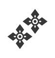 gemstone earrings jewelry icon glyph style vector image vector image