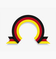 german flag rounded abstract background vector image