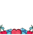 grated cute fashion patches background decorative vector image vector image