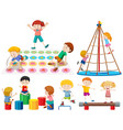 group children playing vector image vector image