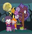 halloween kids cartoons vector image vector image