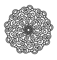 Hand drawn curl Mandala isolated on white