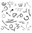 hand drawn sketch of arrows on vector image vector image