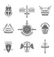 Heraldic coat of arms labels set vector image