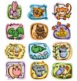 horoscope characters vector image vector image