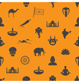 india country theme symbols seamless color pattern vector image
