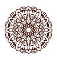 laser cutting mandala oriental brown floral vector image