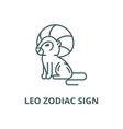 leo zodiac sign line icon linear concept vector image vector image
