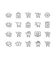 line shopping cart icons vector image vector image