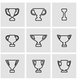 line trophy icon set vector image
