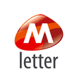 logo abstract form the letter M vector image vector image