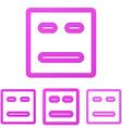 Magenta line face logo design set vector image vector image