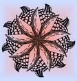 mandala flower lemon for adults vector image vector image