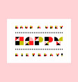 minimalistic happy birthday greeting card vector image vector image
