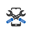 mobile phone repair technology logo vector image vector image
