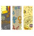 mystic magic esoteric symbols sketch hand vector image