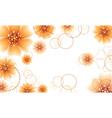 Orange flowers design vector image vector image