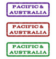 pacific australia watermark stamp vector image vector image