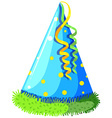 Party hat with blue color vector image vector image