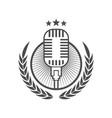 podcast logo icon design element vector image vector image