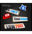 Promotional Labels vector image