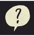 question grunge mark vector image vector image