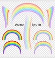 rainbow on transparent background vector image vector image