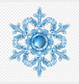 realistic snowflake transparent composition vector image vector image