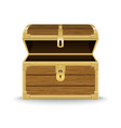 realistic wooden chest vector image vector image