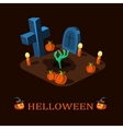 Rebellion Halloween zombie hand rises from the vector image vector image