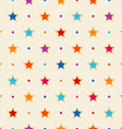 Retro seamless pattern Color stars and dots vector image vector image