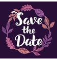 save date hand lettering vector image vector image