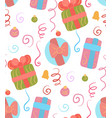 seamless christmas pattern on white background vector image vector image