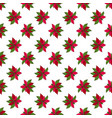 seamless pattern with poinsettia christmas star vector image