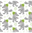 Seamless pattern with wolf vector image vector image
