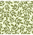 Seamless vintage pattern with painted leaves vector image vector image