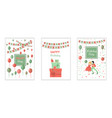 set happy birthday greeting card and party vector image vector image