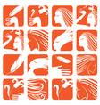 set logos vector image vector image