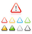 set of triangle warning signs vector image