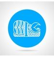 Shrimp sushi round icon vector image