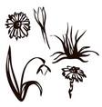 spring set drawn in black vector image vector image